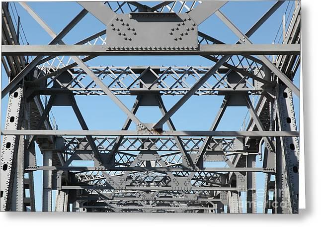 Richmond-san Rafael Bridge In California - 5d21453 Greeting Card by Wingsdomain Art and Photography