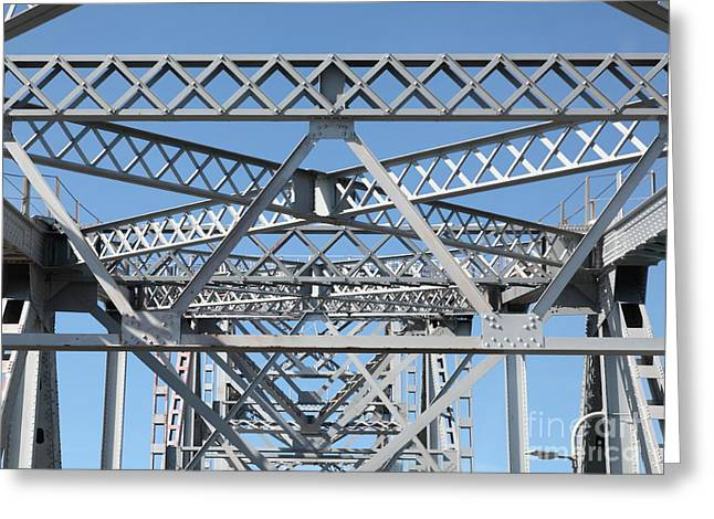 Richmond-san Rafael Bridge In California - 5d21458 Greeting Card by Wingsdomain Art and Photography