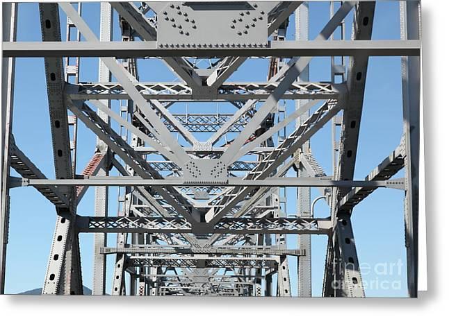 Richmond-san Rafael Bridge In California - 5d21459 Greeting Card by Wingsdomain Art and Photography
