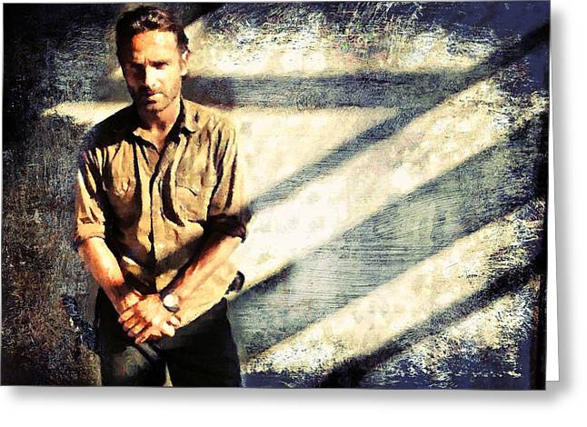 Rick Grimes The Walking Dead 2 Greeting Card