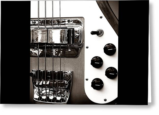 Rickenbacker Bass Greeting Card by Chris Berry