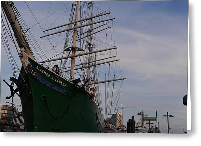 Rickmer Rickmers Greeting Card by Peter Norden