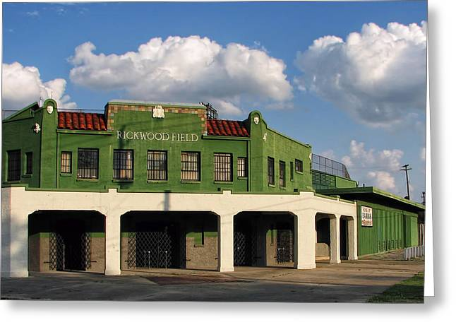 Rickwood Field Greeting Card by Tom Gort