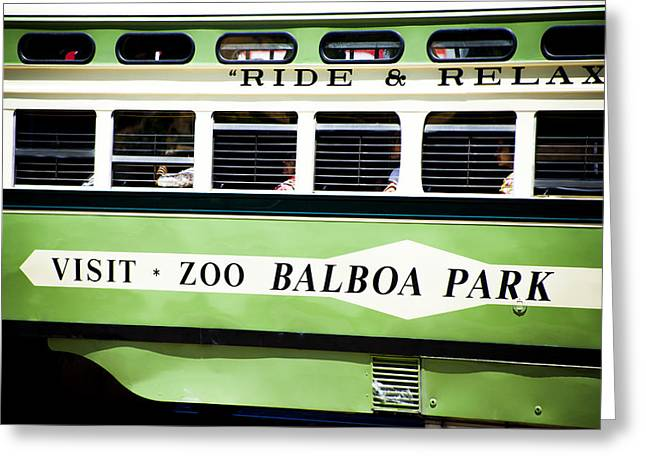 Ride And Relax San Francisco Street Car Greeting Card by SFPhotoStore