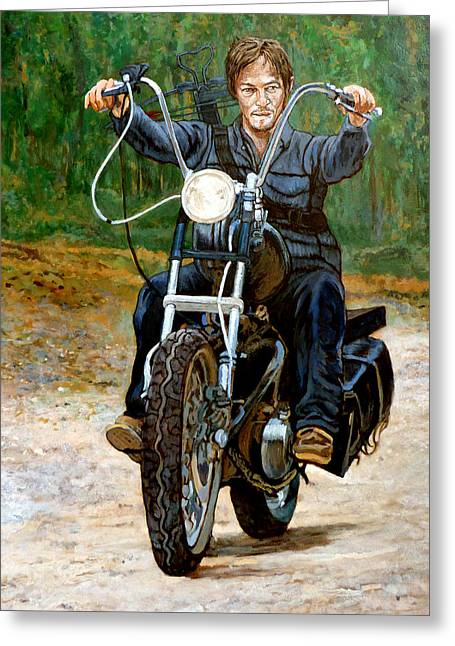 Ride Don't Walk Greeting Card by Tom Roderick