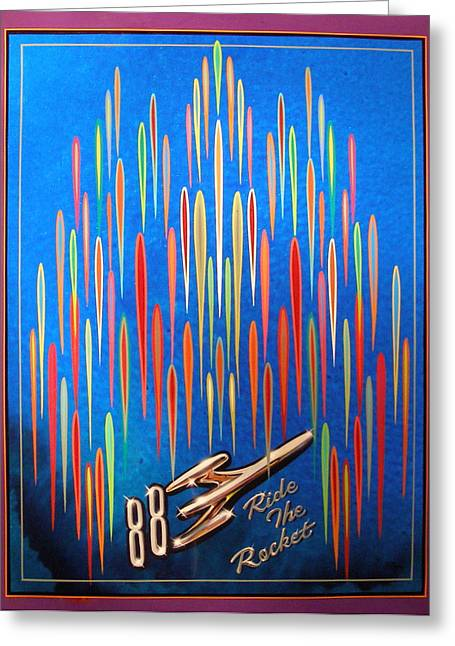 Ride The Rocket 88 Greeting Card