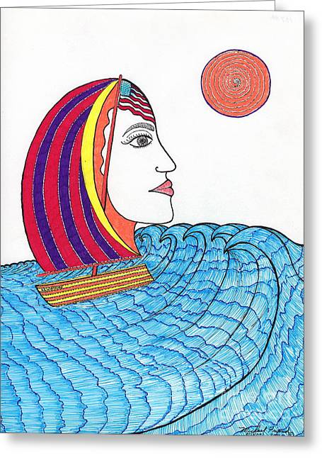 Ride The Waves My Lady On The Bay                                           Greeting Card
