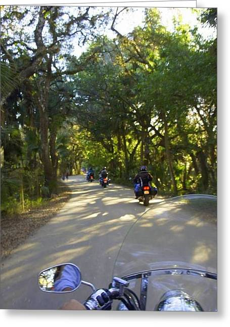 Ride To Snook Haven Greeting Card by Laurie Perry