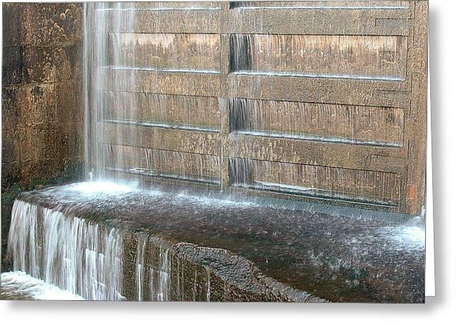 Rideau Canal Lock Gate Greeting Card by Rob Huntley