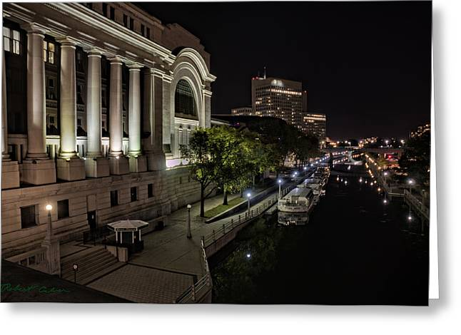 Greeting Card featuring the photograph Rideau Canal by Robert Culver