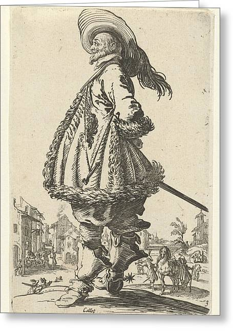 Rider With Plumed Hat, Anonymous Greeting Card by Anonymous