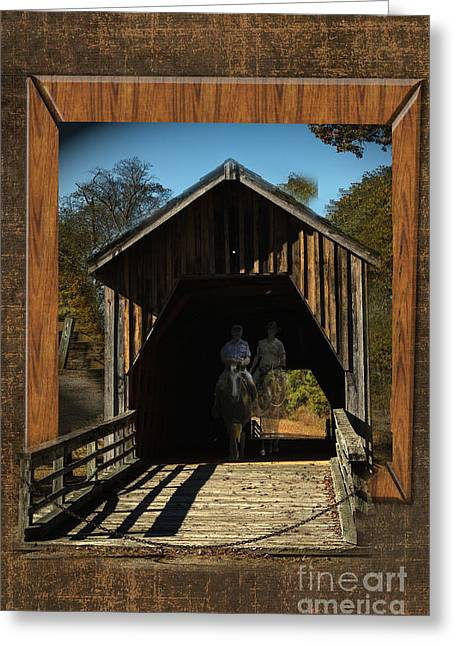 Riders From The Pass Greeting Card by Donna Brown