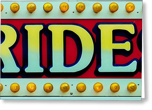 Rides Greeting Card by Skip Willits