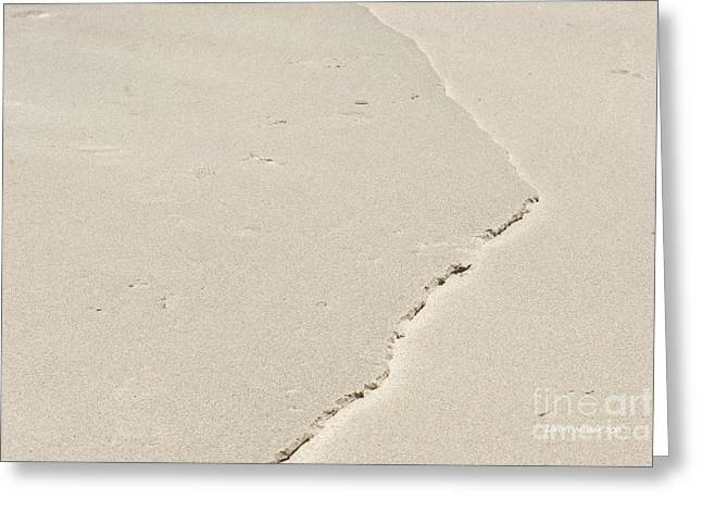 Ridge In The Sand At Big Sur Greeting Card