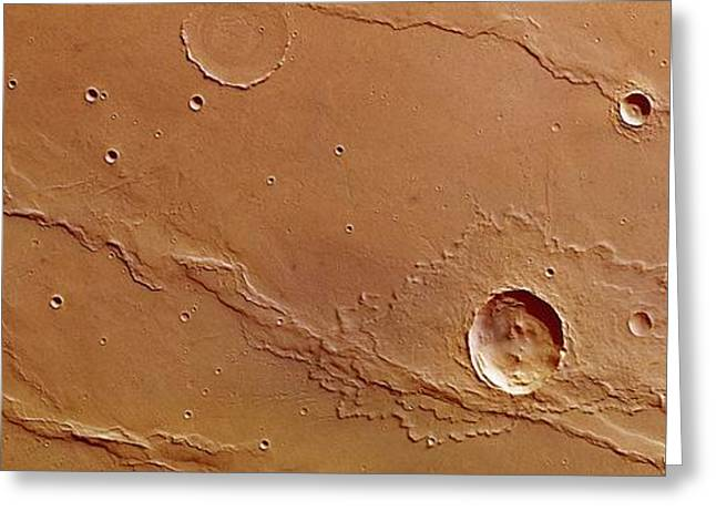 Ridges And Craters Greeting Card by European Space Agency/dlr/fu Berlin (g. Neukum)