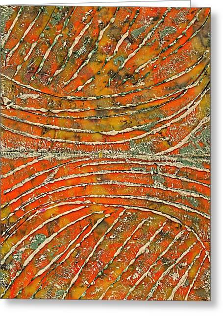 Ridges Encaustic Greeting Card by Bellesouth Studio