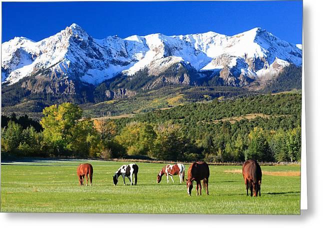 Ridgeway Rl Ranch Greeting Card by Robert Yone