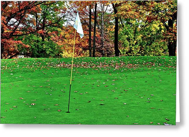 Ridgewood Golf And Country Club Greeting Card by Frozen in Time Fine Art Photography