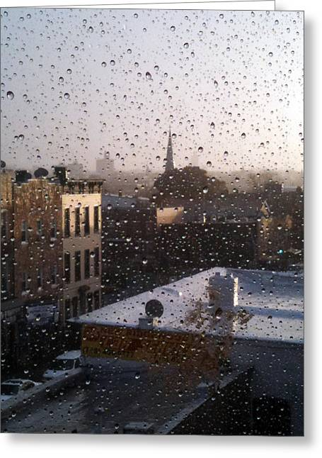 Ridgewood Wet With Rain Greeting Card