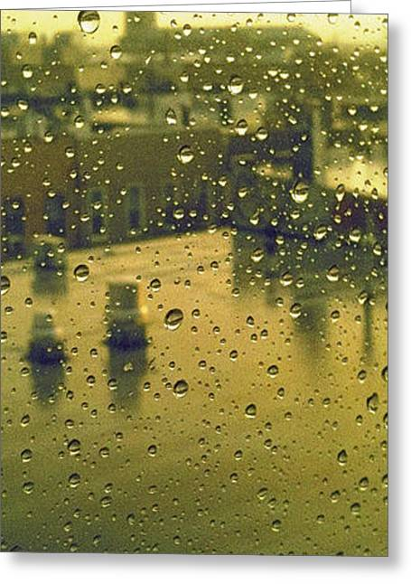 Ridgewood Wet With Rain St Matthias Roman Catholic Church Greeting Card