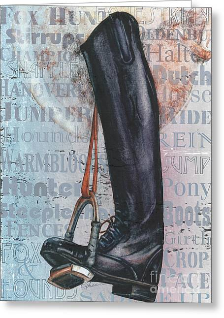 Riding Boot  Greeting Card