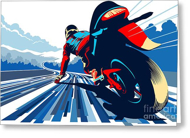 Riding On The Edge Greeting Card