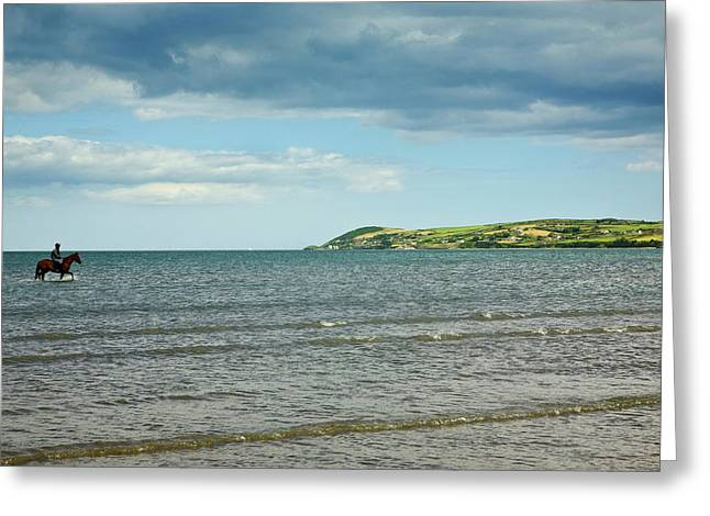 Riding Out On The Cunnigar, Dungarvan Greeting Card by Panoramic Images
