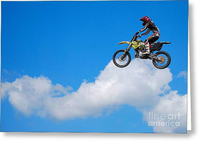 Riding The Clouds Greeting Card