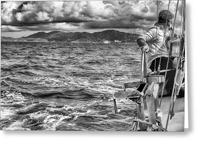 Greeting Card featuring the photograph Riding The Crest Of The Wave by Howard Salmon