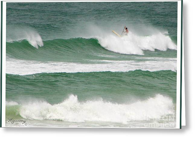 Riding The Waves Greeting Card by Mariarosa Rockefeller