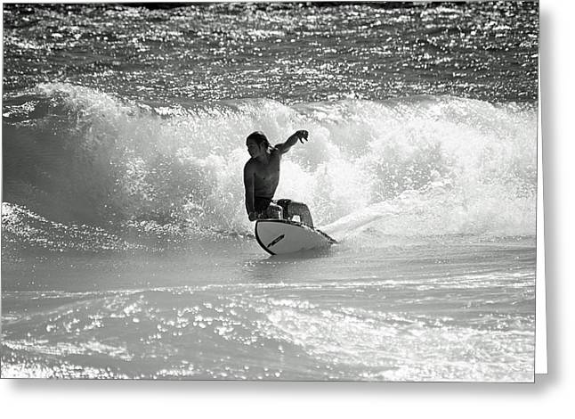 Riding The Waves Greeting Card by Thomas Fouch