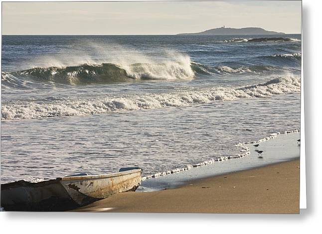 Ried State Park Beach On The Maine Coast Greeting Card