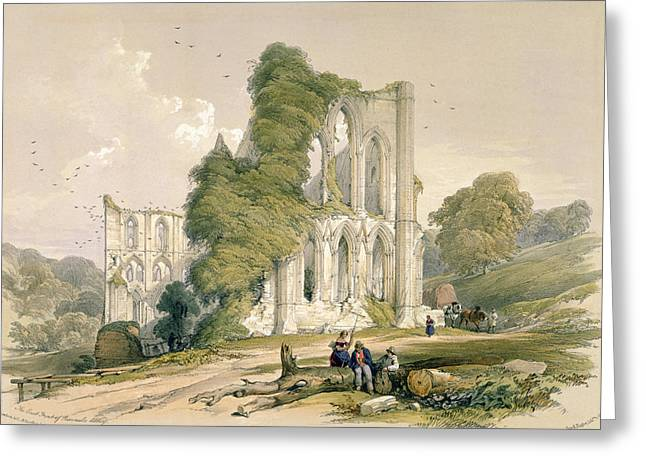 Rievaulx Abbey, From The East Front Greeting Card by William Richardson