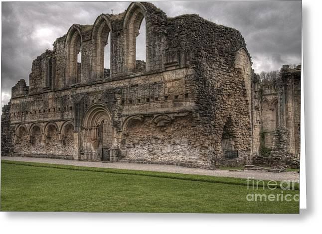 Rievaux Abbey Greeting Card by David  Hollingworth