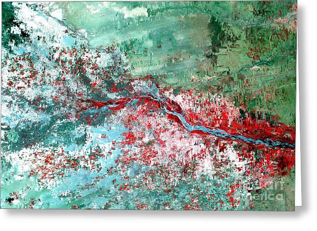 Rift Valley Flooding Landsat 2000 Greeting Card