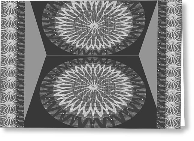 Rights Managed Images For Download Bnw Black N White Chakra Mandala Decorations For Yoga Meditation  Greeting Card by Navin Joshi