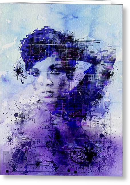 Rihanna 2 Greeting Card by Bekim Art