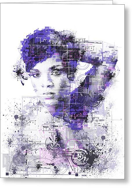 Rihanna Greeting Card by Bekim Art