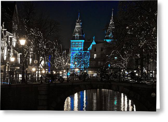 Rijksmuseum In Blue Greeting Card