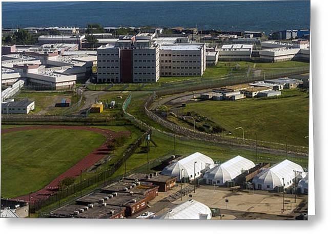 Rikers Island Jail In New York City Greeting Card by David Oppenheimer