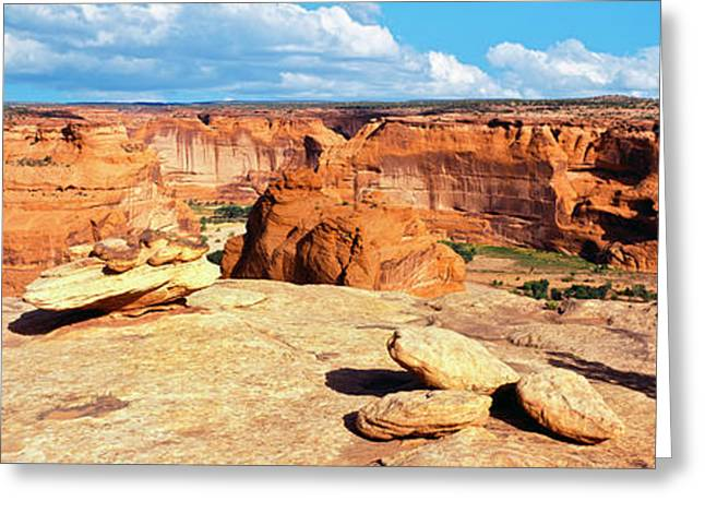 Rim View Of Canyon De Chelly National Greeting Card by Panoramic Images