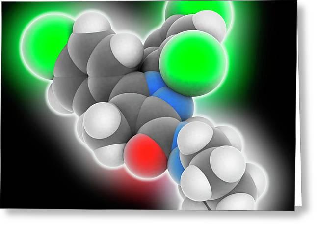 Rimonabant Drug Molecule Greeting Card