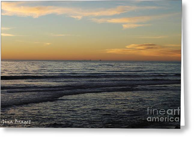 Rincon Ventura California  Greeting Card by Gina Braget
