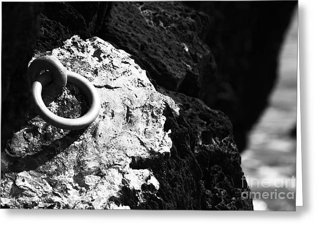 Ring And Rock Greeting Card