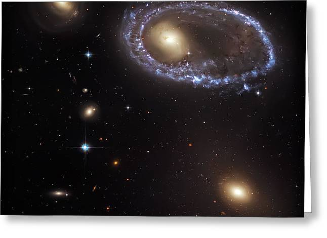 Ring Galaxy Greeting Card by Jennifer Rondinelli Reilly - Fine Art Photography