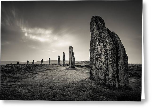Ring Of Brodgar Greeting Card by Dave Bowman