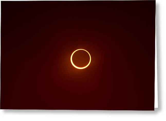 Greeting Card featuring the photograph Ring Of Fire 2 by Joel Loftus