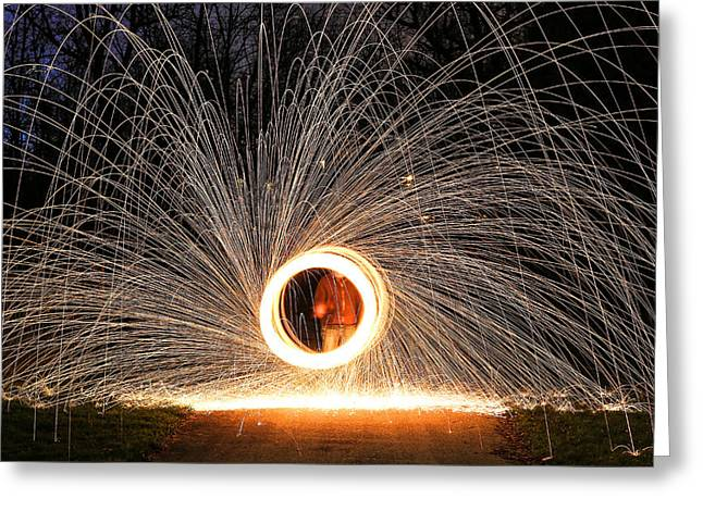 Ring Of Fire Greeting Card by Anna-Lee Cappaert
