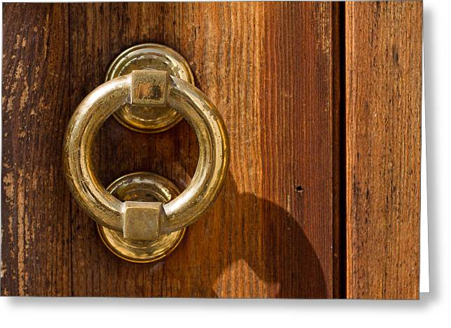 Ring On The Door Greeting Card