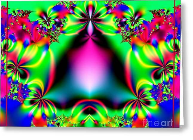 Ringing In Spring Fractal 145 Greeting Card by Rose Santuci-Sofranko